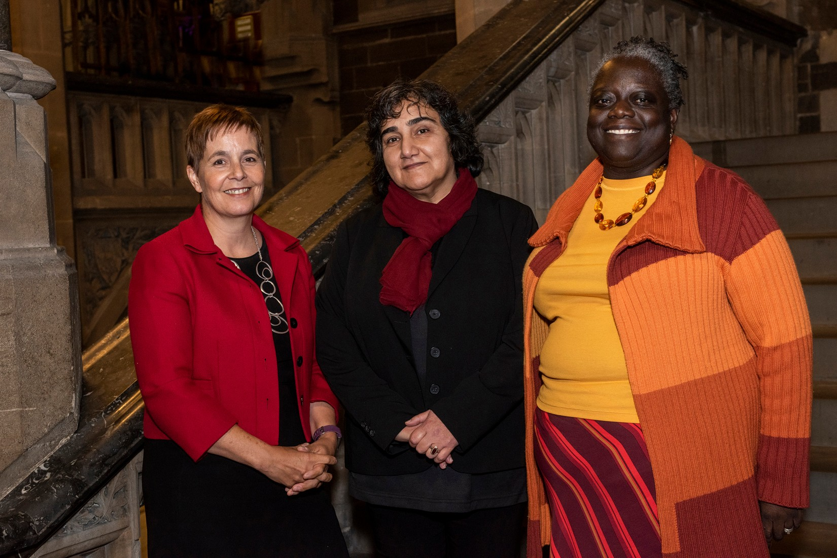 Marzia Babakarkhail (centre), with Claire Molloy (left) and Evelyn Asante-Mensah (right)